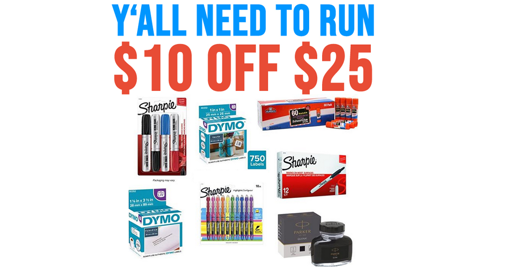 $10 Off $25 Paper Mate, Mr. Sketch, Sharpie, & More School Supplies + Free Shipping on Amazon
