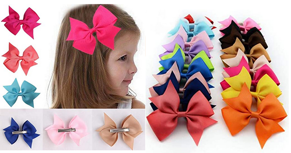 10 PCS Girls Ribbon Bow Only $3.88 Shipped on Amazon (Regularly $19.40)