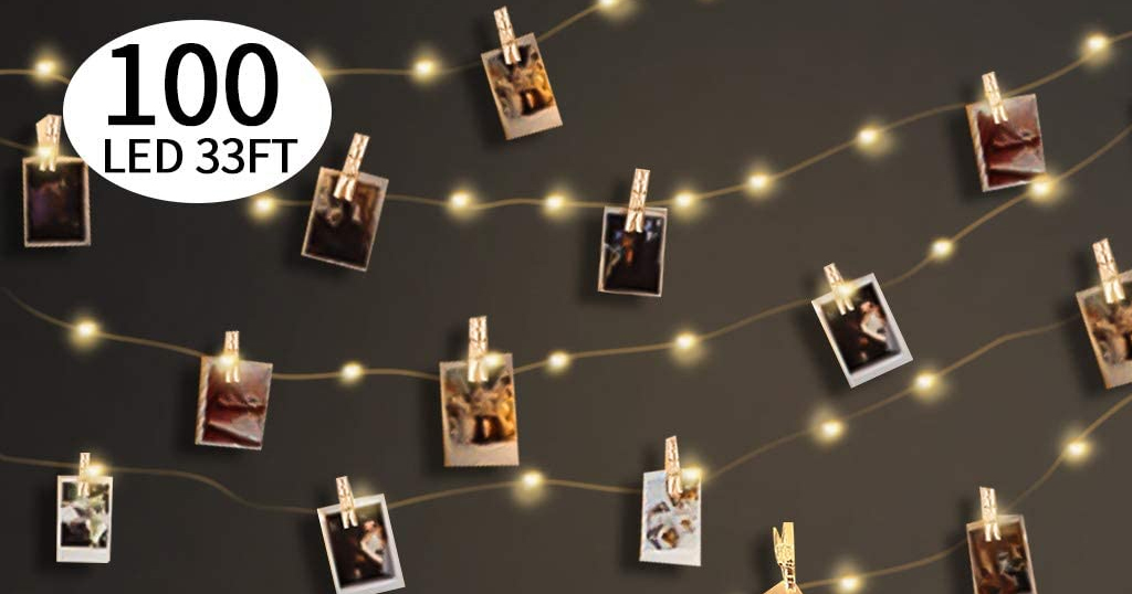 100LED Fairy Lights with 50 Photo Clips Only $7.79 Shipped on Amazon (Regularly $12.99)