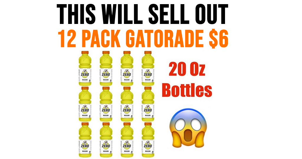 12 Pack Gatorade Only $6 Shipped on Amazon