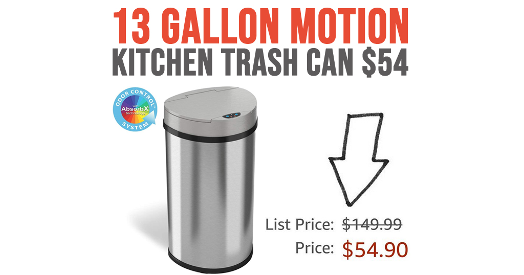 13 Gallon Motion Kitchen Trash Can $54 Shipped on Amazon (Regularly $149.99)