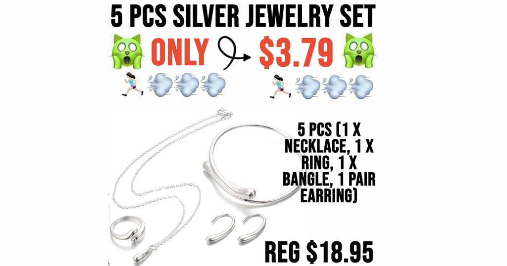 5 PCS Silver Jewelry Set Only $3.79 Shipped on Amazon (Regularly $18.95)