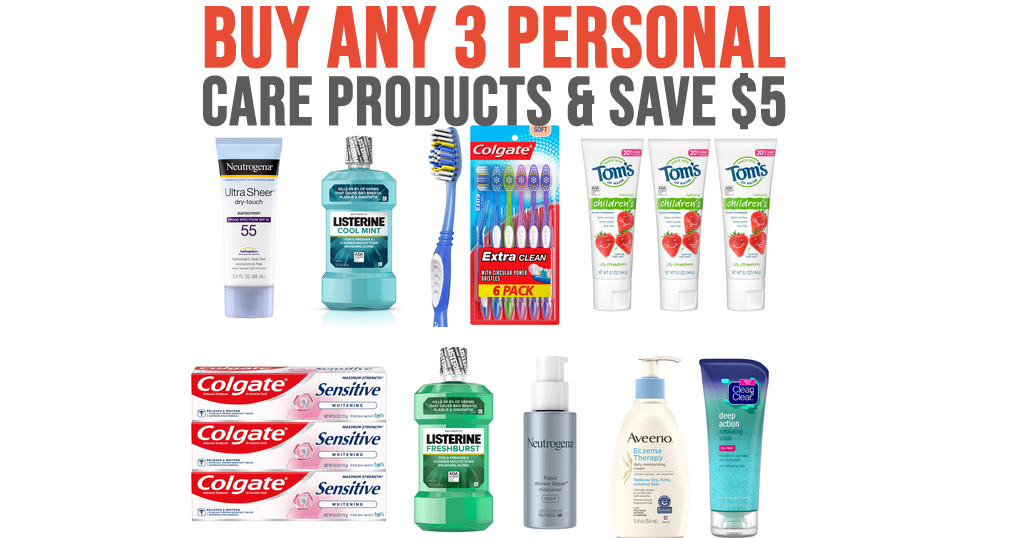 Buy Any 3 Personal Care Products & Save $5 on Amazon