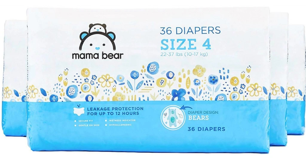 Mama Bear Diapers 168-Count Only $15.19 Shipped on Amazon (Regularly $30.39)
