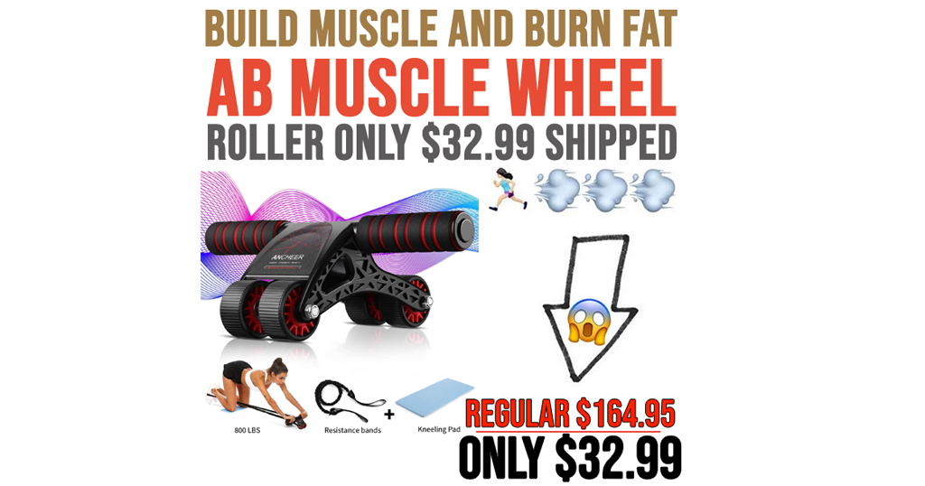 AB Muscle Wheel Roller Only $32.99 on Amazon (Regularly $164.95)