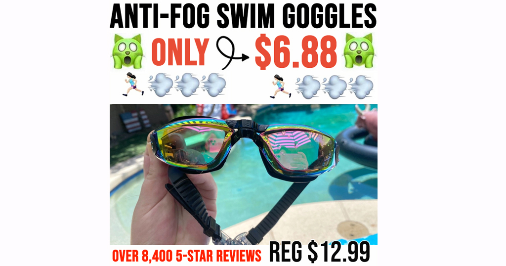Anti-Fog Swim Goggles w/Case Only $6.88 Shipped on Amazon | Over 8,400 5-Star Reviews