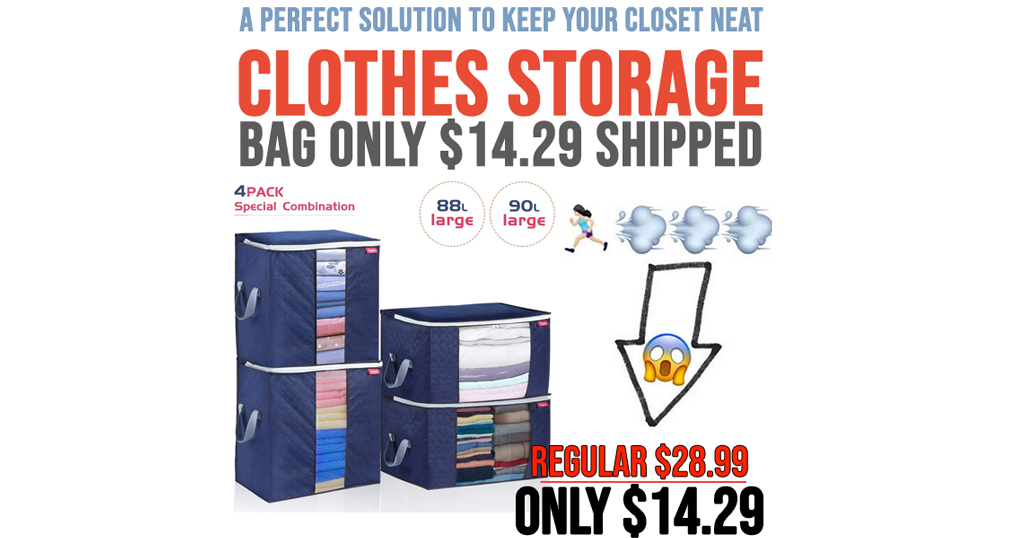 Clothes Storage Bags Only $14.29 Shipped on Amazon (Regularly $28.99)