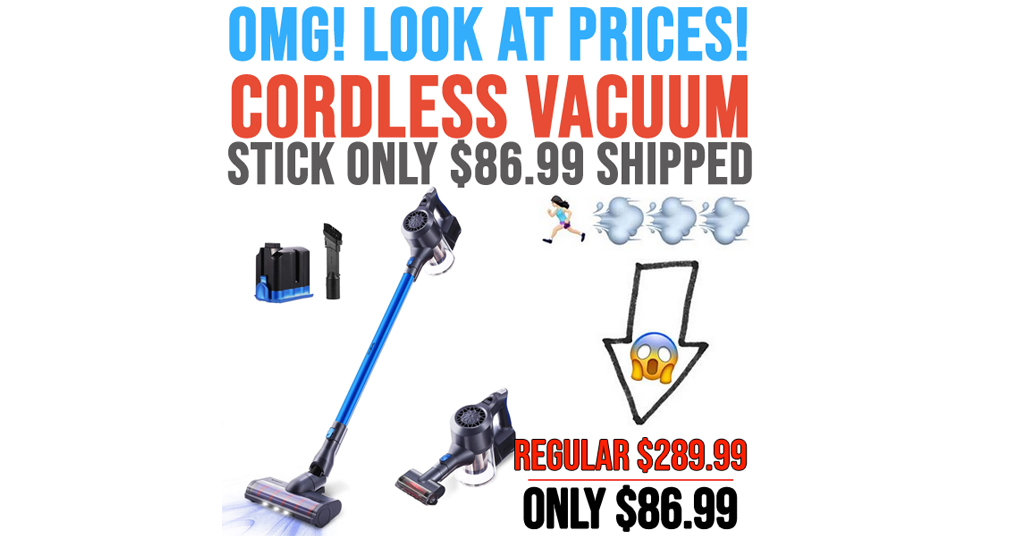 Cordless Vacuum Battery Stick Only $86.99 on Amazon (Regularly $289.99)