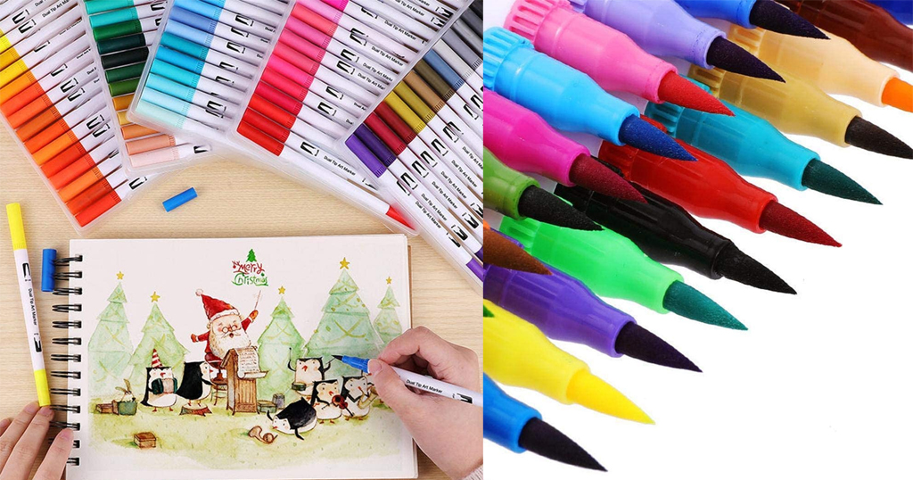 Double Headed Watercolor Paint Pens Only $2.97 Shipped on Amazon (Regularly $14.85)