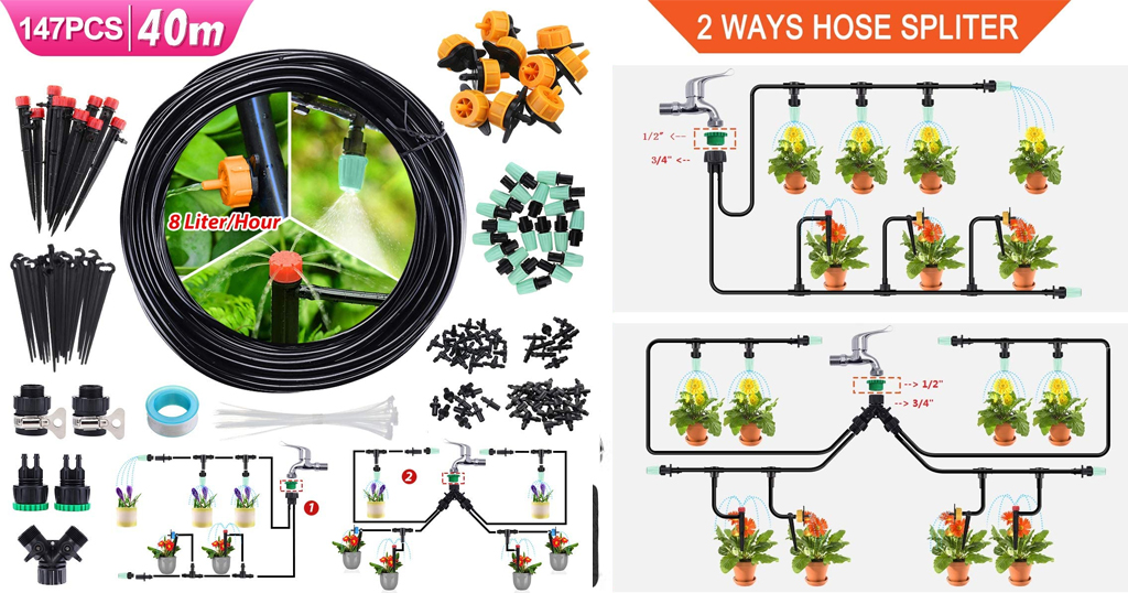 Drip Irrigation Kit Only $22.08 Shipped on Amazon (Regularly $33.98)