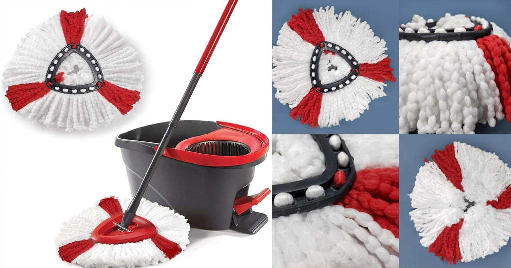 Durable Washable Soft Spin Mop Refill Only $6.98 Shipped on Amazon (Regularly $34.99)