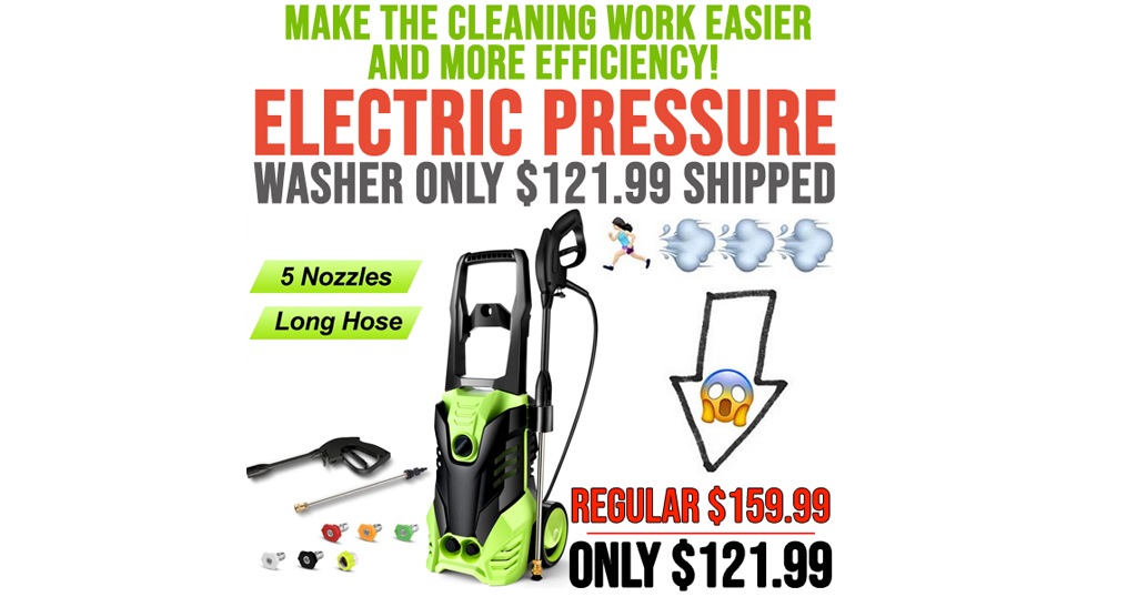 Electric Pressure Washer Only $121.99 on Amazon (Regularly $159.99)