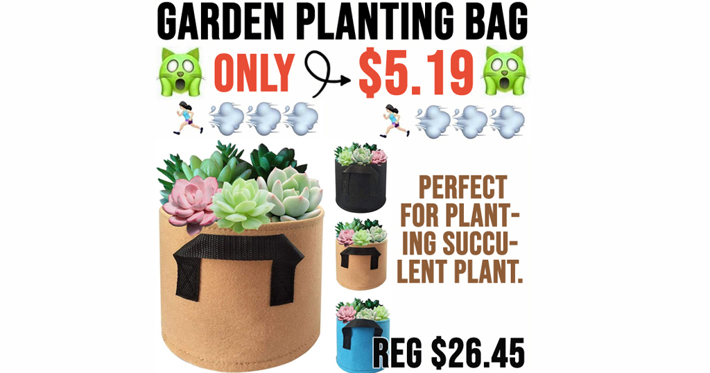 Garden Planting Bag Only $5.19 Shipped on Amazon (Regularly $26.45)