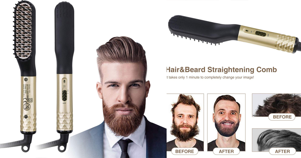 Hair & Beard Straightening Comb for Men Only $9.89 Shipped on Amazon (Regularly $17.99)