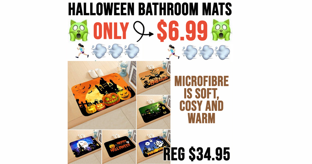 Halloween Bathroom Mats Only $6.99 Shipped on Amazon (Regularly $34.95)
