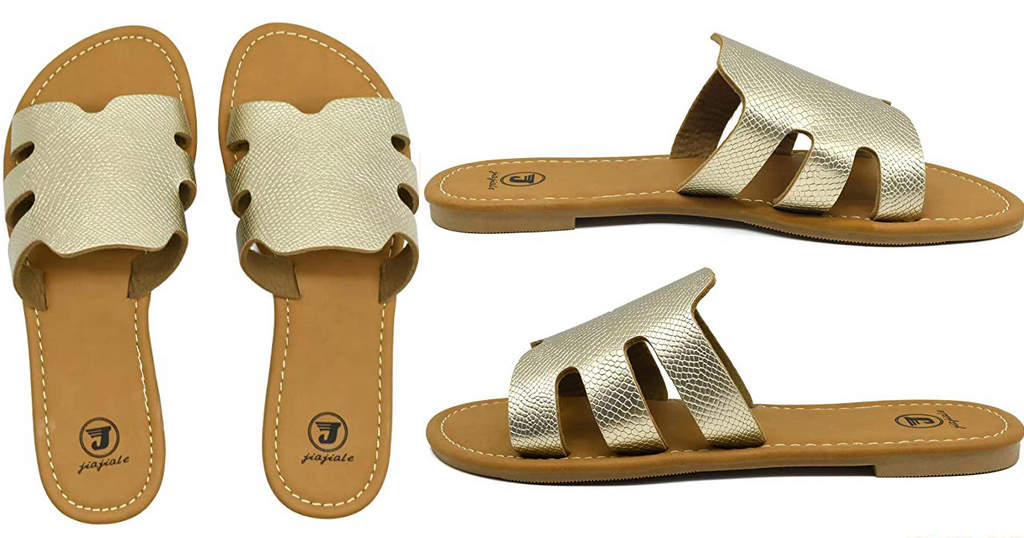 Open Toe Womens Slide Sandals Only $10.99 Shipped on Amazon (Regularly $21.99)
