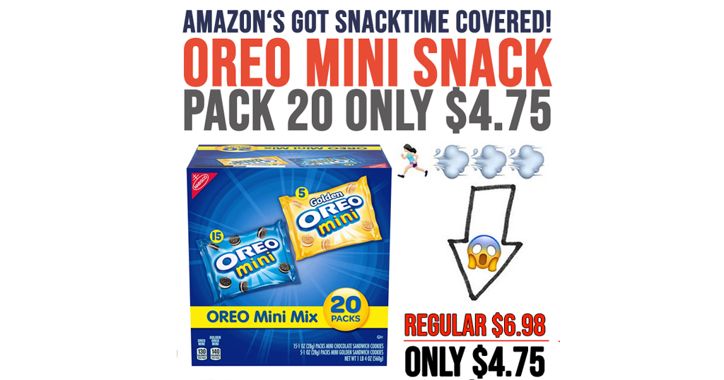 Oreo Mini Snack Pack 20-Count Only $4.75 Shipped on Amazon | Just 23¢ Per Bag