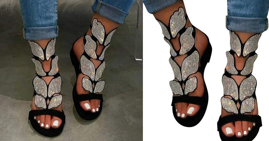 Rhinestone Butterfly Sandals Only $20.99 Shipped on Amazon (Regularly $104.99)