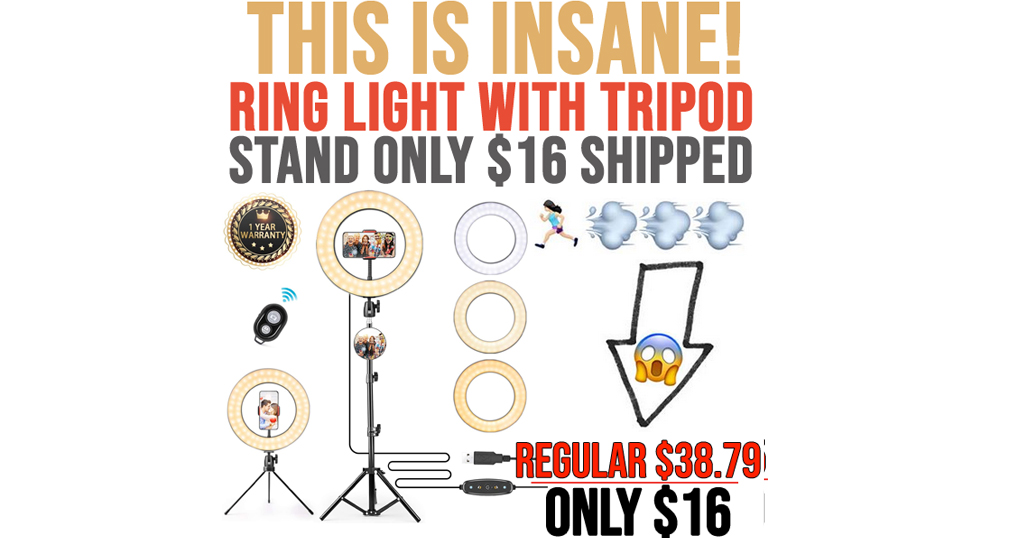 Ring Light with Tripod Stand Only $16 Shipped on Amazon (Regularly $38.79)