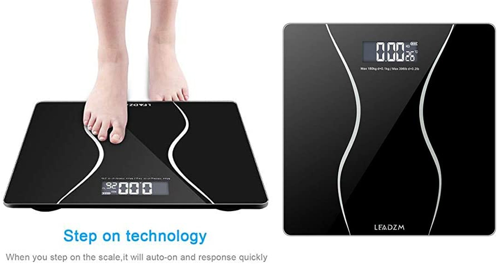 Slim Waist Pattern Personal Scale (Black) Only $19.99 Shipped on Amazon (Regularly $99.95)