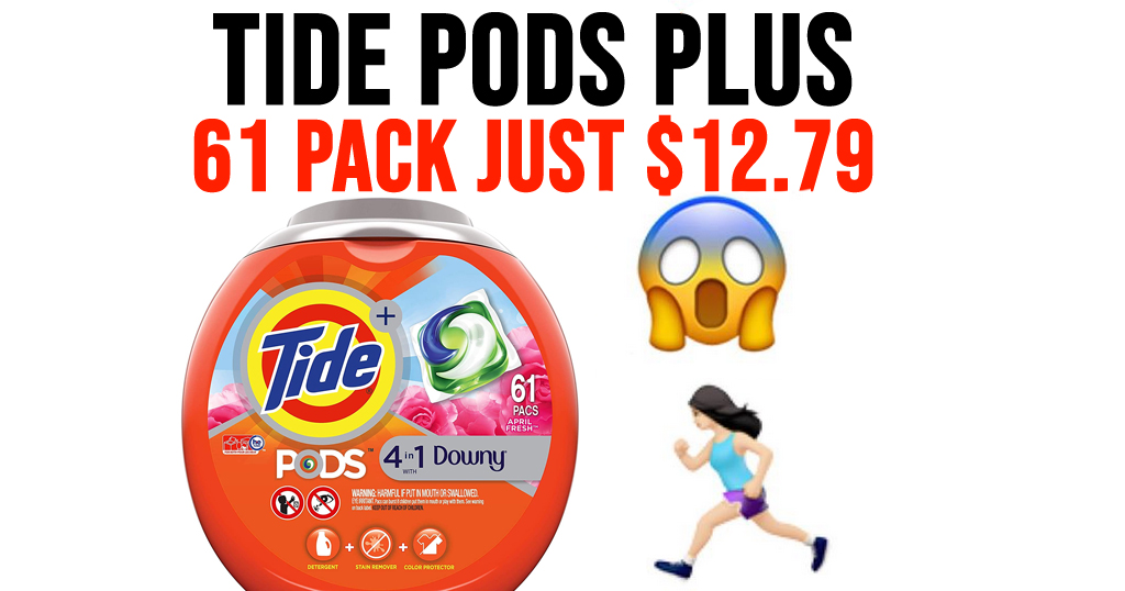 Tide Pods Plus 61 Pack Only $12.79 Shipped on Amazon