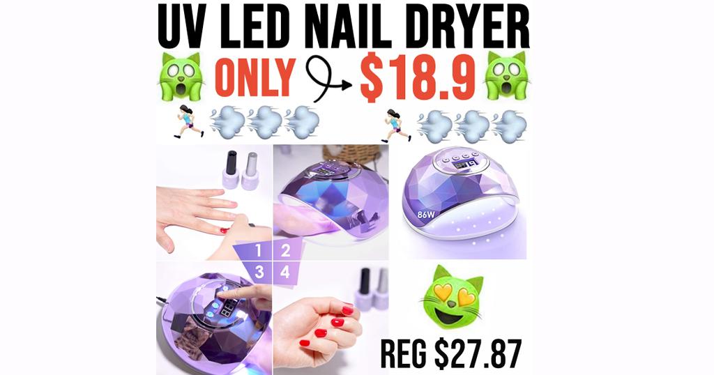 UV LED Nail Dryer Only $18.9 Shipped on Amazon (Regularly $27.87)