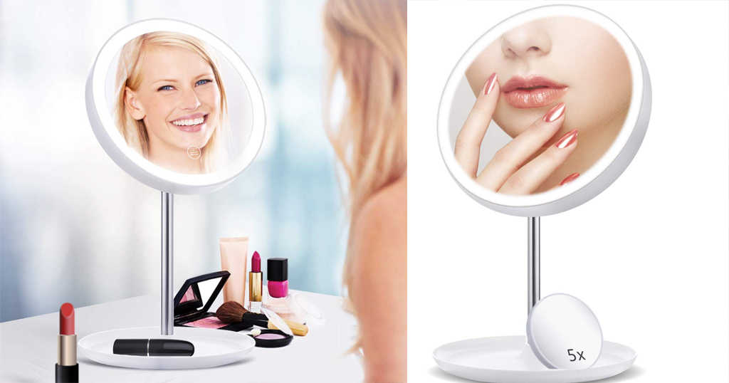 Vanity Makeup Mirror with 5X Magnifying Glass Only $12.99 Shipped on Amazon (Regularly $19.99)
