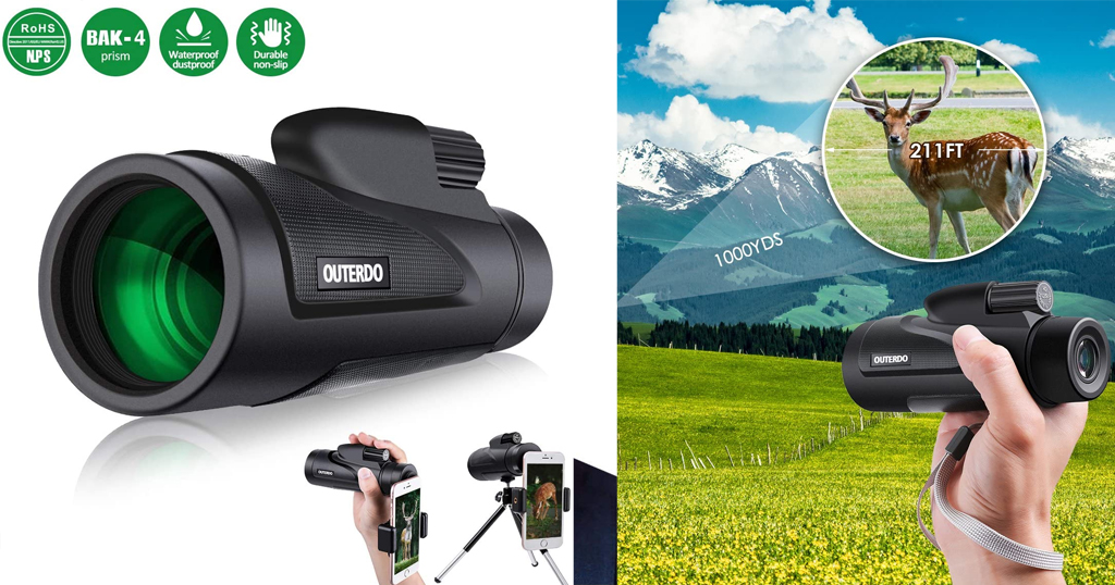 Waterproof Monoculars with Cellphone Adapter & Tripod Only $9.89 Shipped on Amazon (Regularly $17.99)