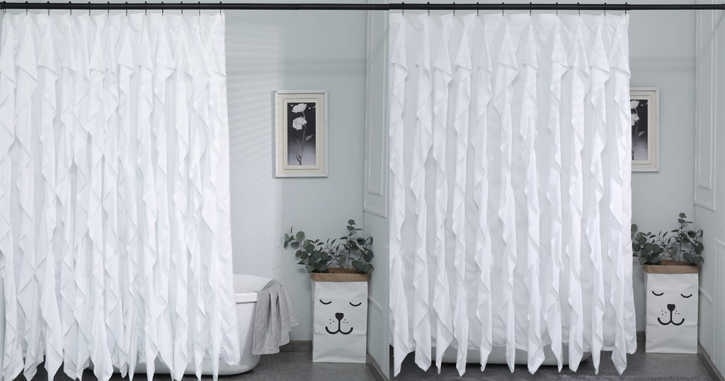 White Ruffle Shower Curtain Only $7.99 Shipped on Amazon (Regularly $19.99)