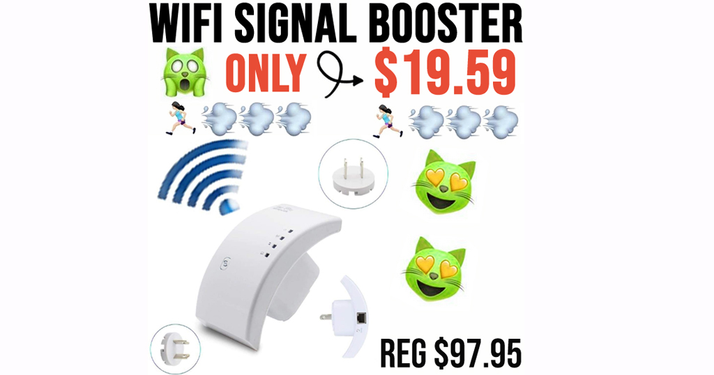 WiFi Signal Booster Only $19.59 Shipped on Amazon (Regularly $97.95)