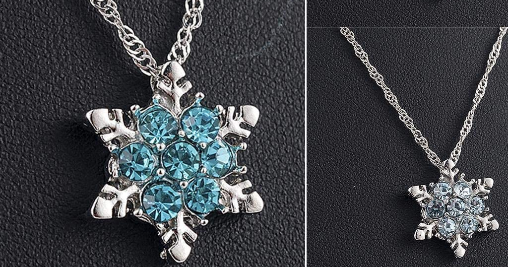 Women Snowflake Pendant Necklace Only $2.78 Shipped on Amazon (Regularly $13.88)