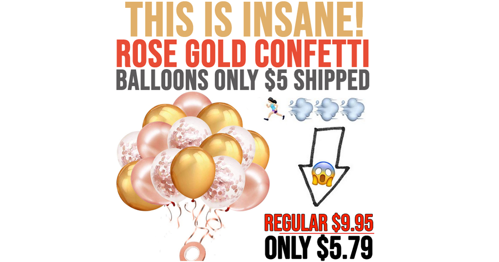 60 Pack Rose Gold Confetti Balloons Only $5 Shipped on Amazon (Regularly $9.95)