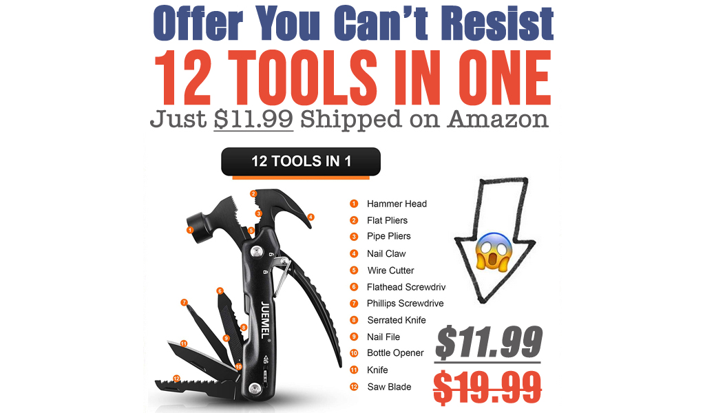 12 Tools In One Just $11.99 Shipped on Amazon (Regularly $19.99)