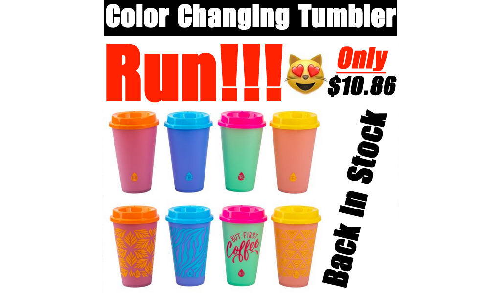 Color Changing Tumbler - 8 Pack Just $10.86 Shipped on Walmart.com
