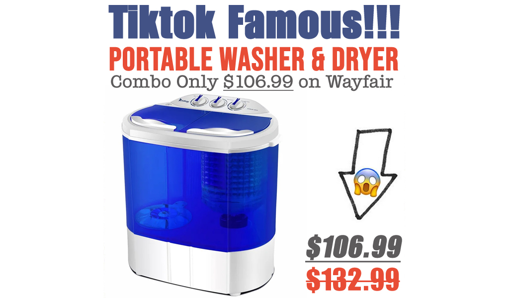 Portable Washer & Dryer Combo Only $106.99 on Wayfair (Regularly $132.99)