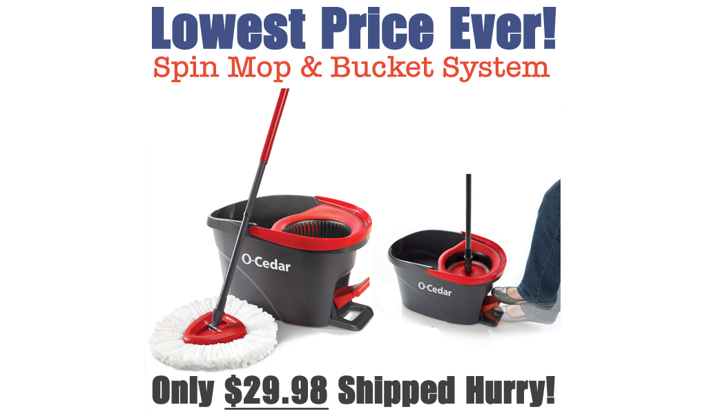 Spin Mop & Bucket System Only $29.98 Shipped on Walmart