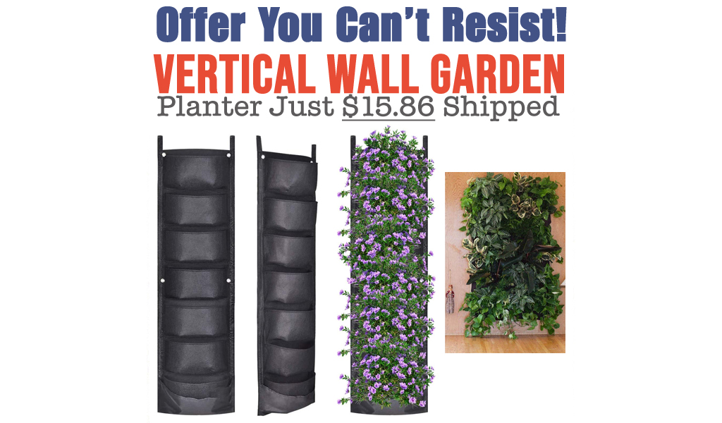 Vertical Wall Garden Planter Just $15.86 Shipped on Amazon