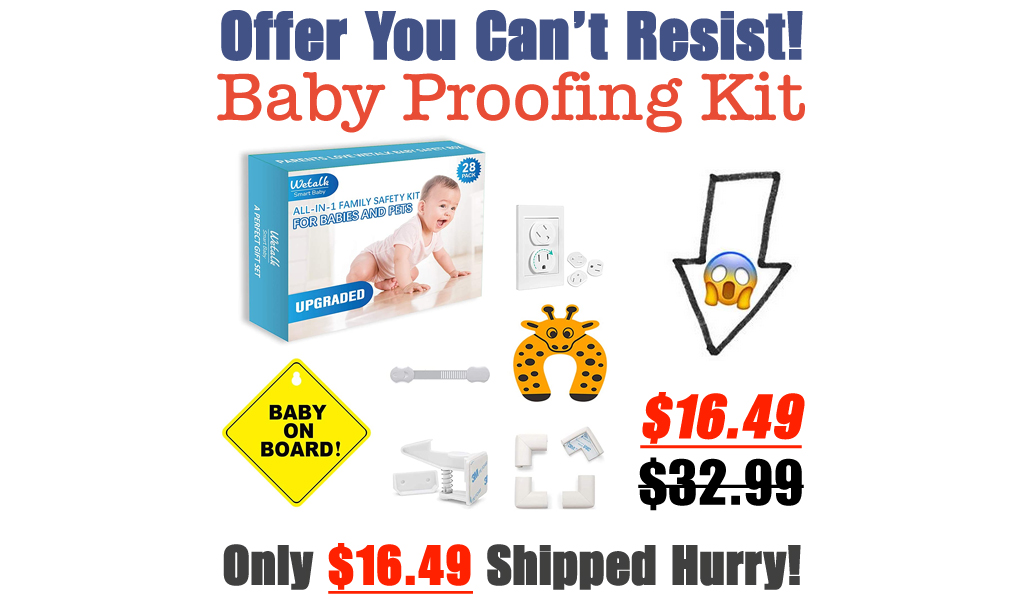 Baby Proofing Kit Only $16.49 Shipped on Amazon (Regularly $32.99)