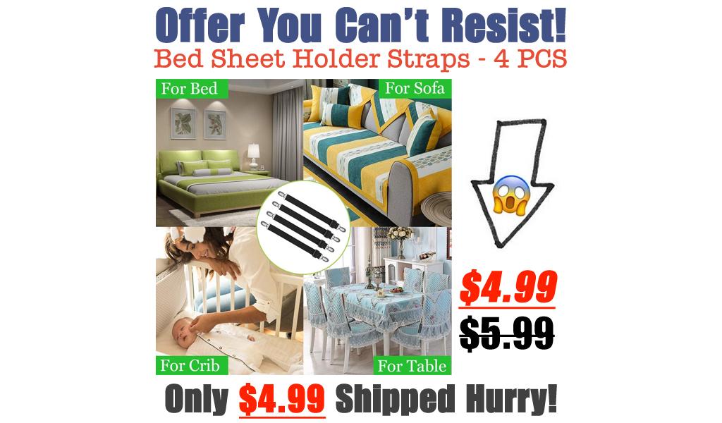 Bed Sheet Holder Straps - 4 PCS Only $4.99 Shipped on Amazon (Regularly $5.99)