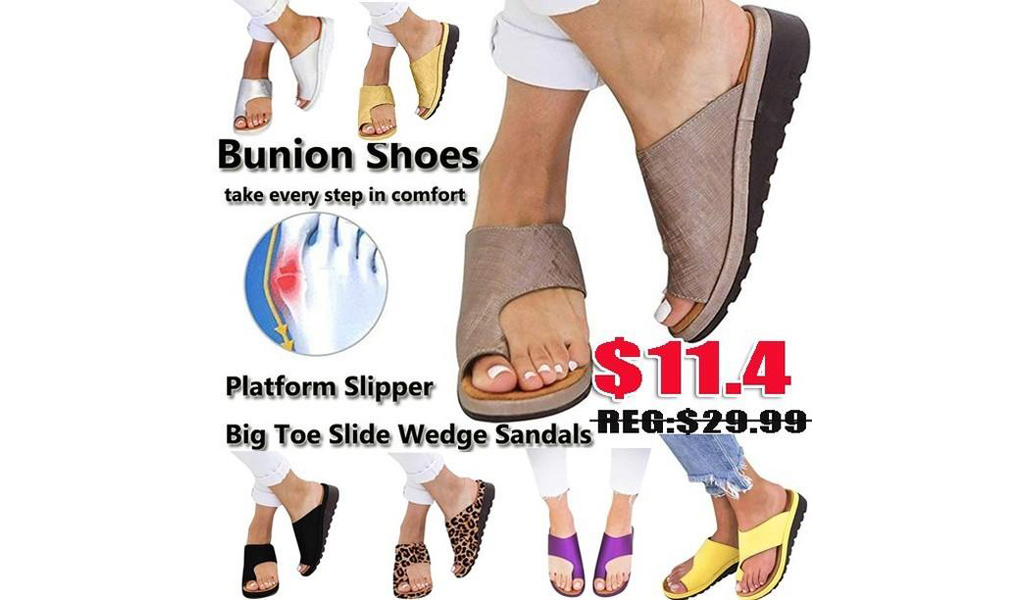 Big Toe Bone Correction Light Weight Flip-Flop Slippers+Free Shipping!