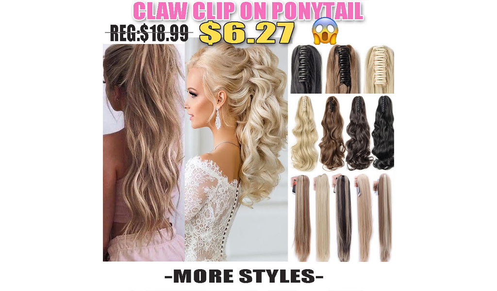 Claw Clip Pony Tail Hair Extensions+Free Shipping!