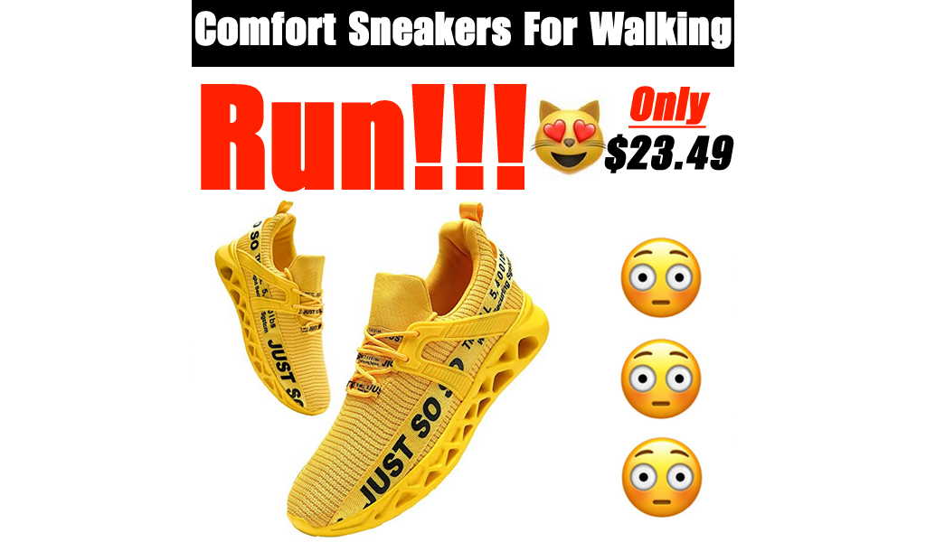 Comfort Sneakers For Walking Only $23.49 Shipped on Amazon (Regularly $46.99)