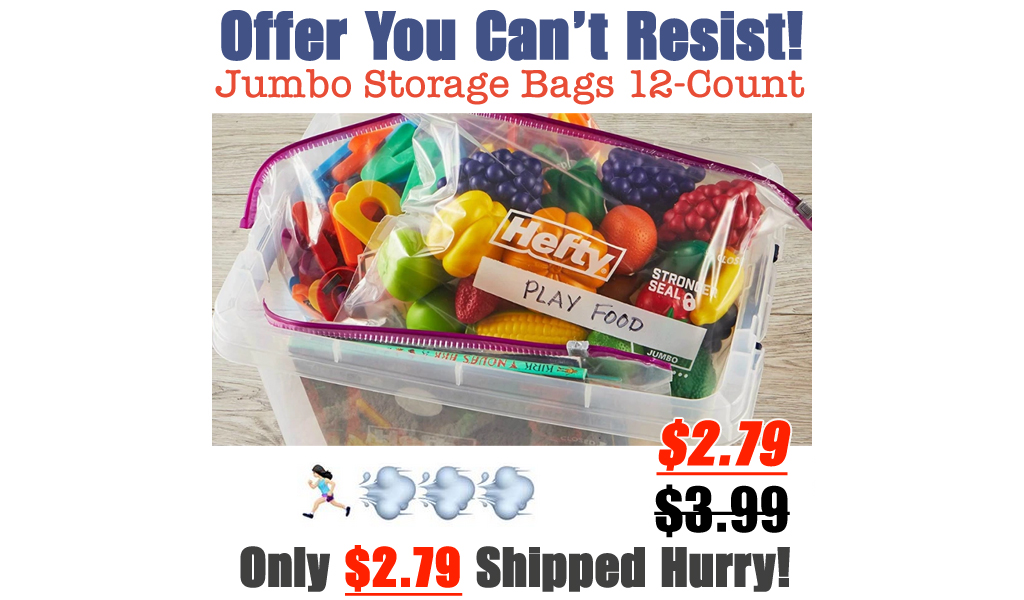 Hefty Slider Jumbo Storage Bags 12-Count Only $2.79 Shipped on Amazon