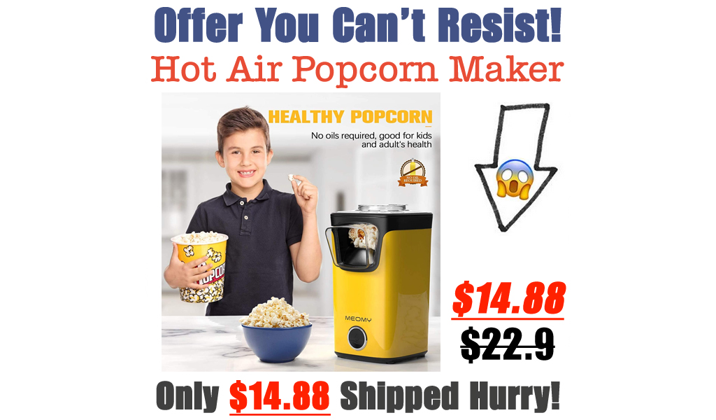 Hot Air Popcorn Maker Only $14.88 Shipped on Amazon (Regularly $22.9)