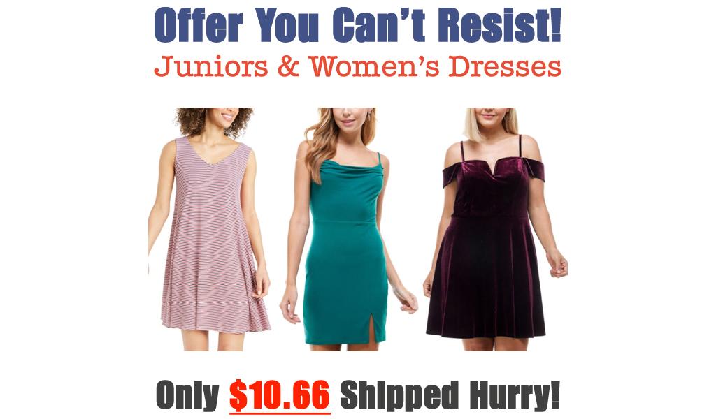 Juniors & Women's Dresses from $10.66 on Macys.com (Regularly $59)