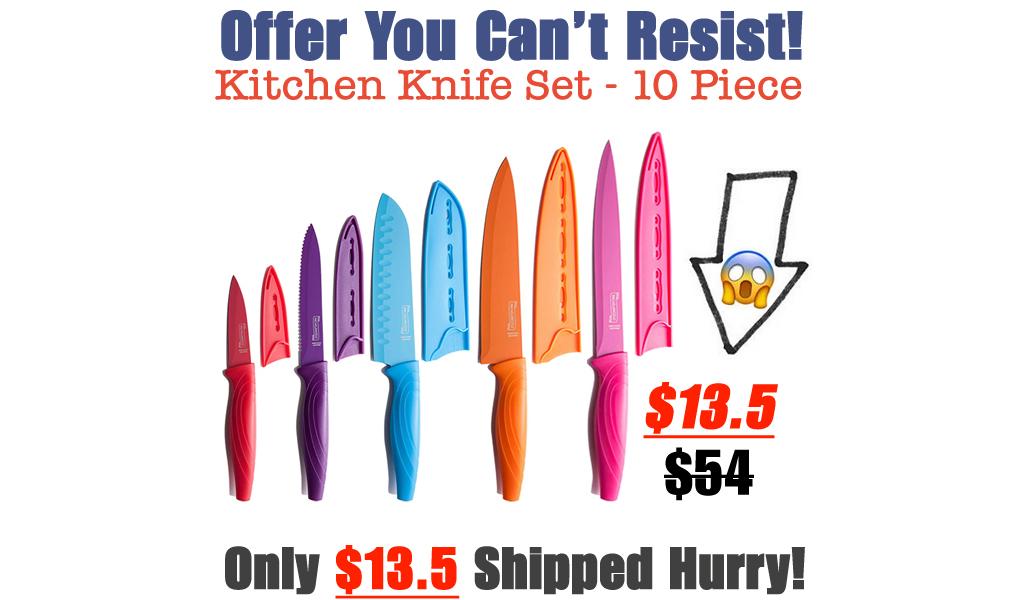 Kitchen Knife Set - 10 Piece Only $13.5 Shipped on Amazon (Regularly $54)