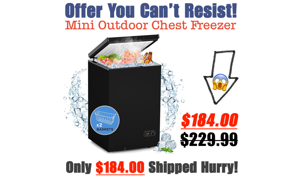 Mini Outdoor Chest Freezer Only $184.00 Shipped on Amazon (Regularly $229.99)
