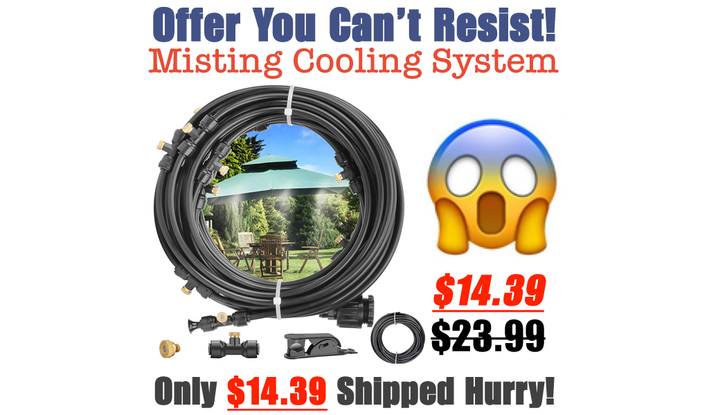 Misting Cooling System Only $14.39 Shipped on Amazon (Regularly $23.99)