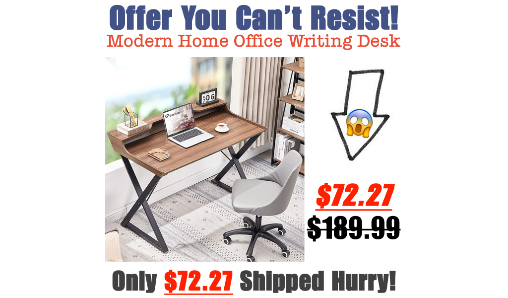 Modern Home Office Writing Desk Only $72.27 Shipped on Amazon (Regularly $189.99)