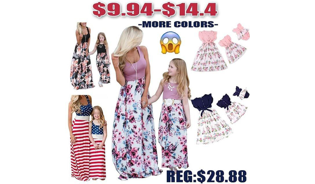 Mommy And Me Dresses+Free Shipping!